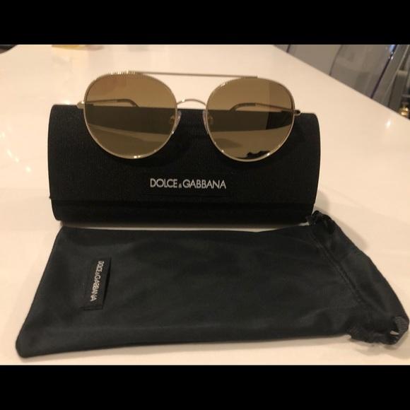 09cfae696a Dolce & Gabbana Accessories - Auth Dolce & Gabbana Gold Sunglasses DG2199